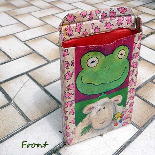 Frodo, der Frosch von vorne