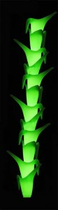 grüne Leuchtkannenstange